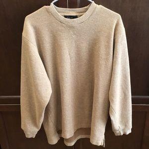 Eddie Bauer Cotton Heather Tan Sweater - Medium